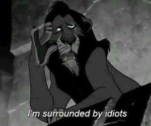 idiot, scar, and lion king image