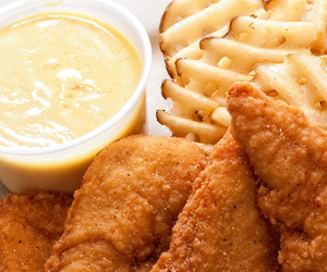 food, Chicken, and fries image