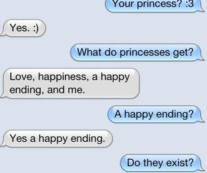 love, princess, and text image