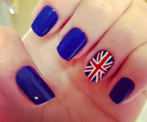 blue, nails, and england image