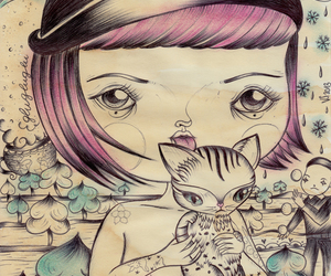 Dream, lowbrow, and mixed media image