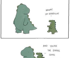 dinosaur, Godzilla, and king kong image