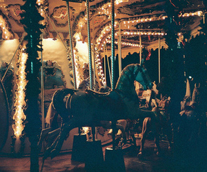 horse, light, and vintage image
