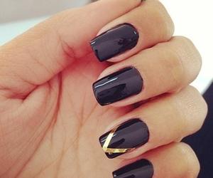 girly, black, and nails image