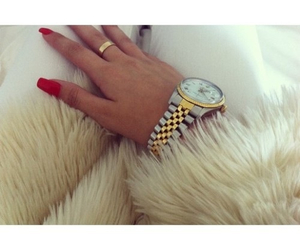 girl, luxury, and watch image