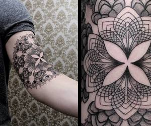 arm, tattoo, and dotstolines image