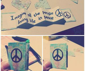 diy, peace, and gift image