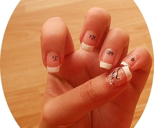 chinese, flowers, and nails image