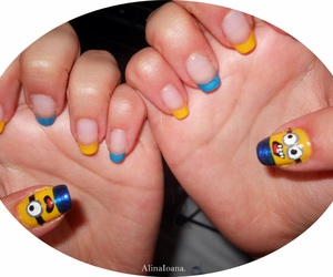 minions, nails, and despicable me image