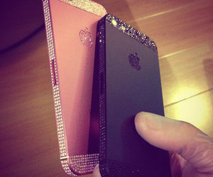 iphone, pink, and black image