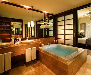 bathroom, bedroom, and luxury image