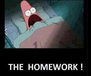 homework, patrick, and funny image