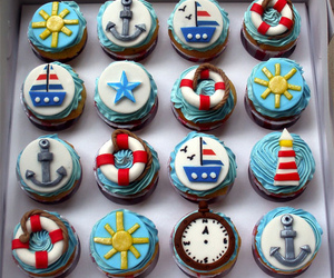 cupcake, anchor, and food image