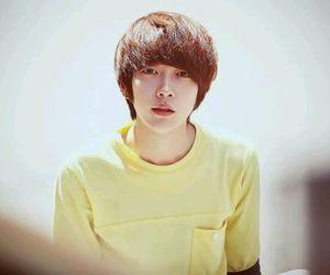 park, yellow t-shirt, and hyung image