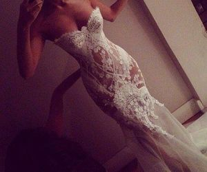 dress, glam, and lace image