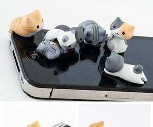 cat, celphone, and kitties image