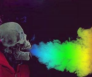 smoke and skull image
