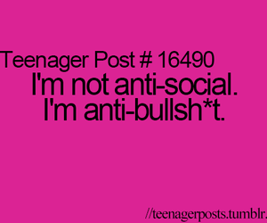 teenager post, bullshit, and quote image