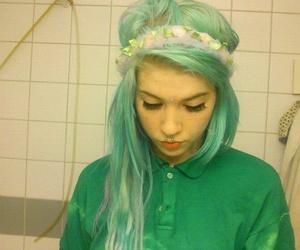 hair and green hair image