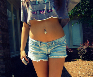 girl, piercing, and summer image