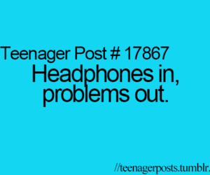 headphones, problems, and music image