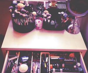makeup, make up, and cosmetics image