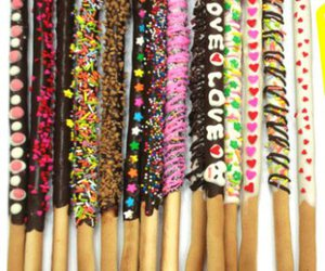 candy, pepero, and love image