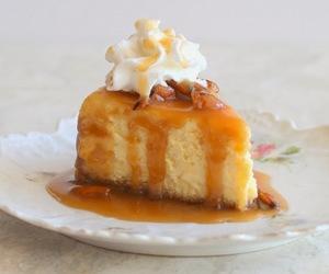 bourbon, eggnog, and cake image