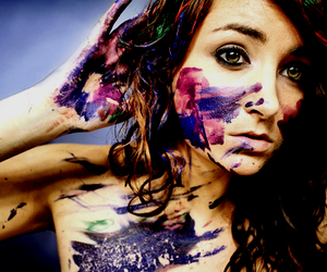 girl, paint, and photography image