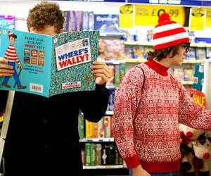 wally, where's wally, and funny image