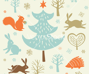 animals, christmas, and forest image