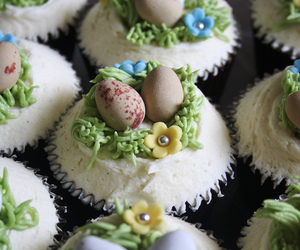 easter, easter eggs, and easter cupcakes image