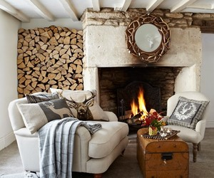 fireplace and home image