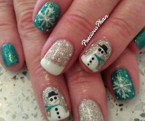 christmas, winter, and christmas nails image