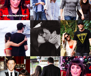 love, lea michele, and cory monteith image