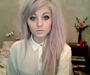 girl, hair, and blue eyes image