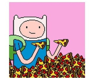 pizza, adventure time, and love image