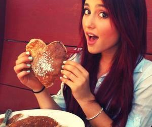 ariana grande, heart, and pancakes image