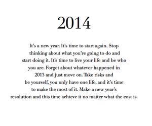 quote, new year, and 2014 image