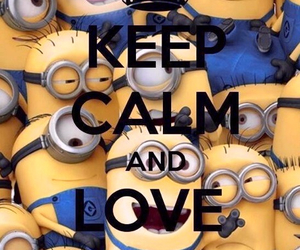 minions, keep calm, and yellow image
