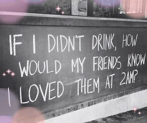 friends, love, and drink image