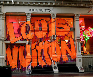 Louis Vuitton, graffiti, and store image