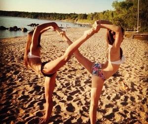 beach, bikini, and infinity image