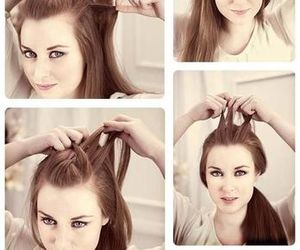 tutorial, hair, and hairstyles image