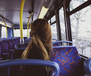 girl, bus, and photography image