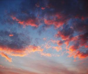 clouds, colors, and sunset image