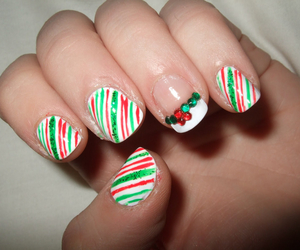 christmas, nails, and merry image