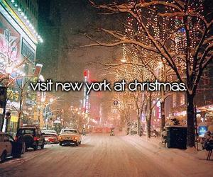 christmas, new york, and snow image