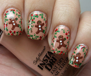 nails, christmas, and gingerbread image