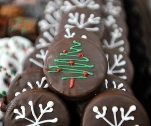 christmas, chocolate, and Cookies image
